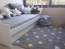 Estrellas tricolor gris